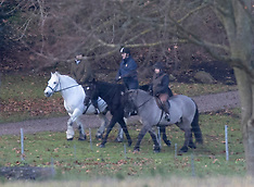 Prince Andrew out riding
