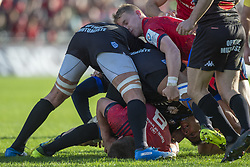 December 9, 2018 - Limerick, Ireland - Mike Haley of Munster in action during the Heineken Champions Cup Round 3 match between Munster Rugby and Castres Qlympique at Thomond Park Stadium in Limerick, Ireland on December 9, 2018  (Credit Image: © Andrew Surma/NurPhoto via ZUMA Press)