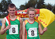 Siblings Marcus and Grace Lawlor from Bennykerry/Tinryland, Carlow at the  HSE Community Games National Finals 2010 in the AIT in Athlone. Photo:Andrew Downes