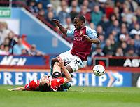 2003-05-03<br />Barclaycard Premiership<br />Aston Villa v Sunderland<br /><br />ASTON VILLA'S DARIUS VASSELL  AND SUNDERLAND'S JOACHIM BJORKLUND DURING TODAYS PREMIERSHIP GAME.<br /><br />PIC BY DANIEL HAMBURY/SPORTSBEAT IMAGES