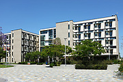Modern Architecture Student Housing on Campus at California State University Fullerton