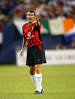 Photo Aidan Ellis.<br />Manchester United v juventus (Champions World Match at New York Giants Stadium East Rutherford).31/07/03.<br />United's Roy Keane