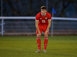 BANGOR, WALES - Saturday, November 17, 2018: Wales' Jack Vale during the UEFA Under-19 Championship 2019 Qualifying Group 4 match between Sweden and Wales at the Nantporth Stadium. (Pic by Paul Greenwood/Propaganda)