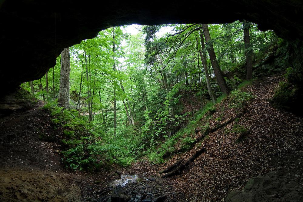 Twin Falls nature preserve in Munising Michigan in the Upper Peninsula.