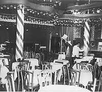 1950 Interior of the Mocambo Nightclub on the Sunset Strip