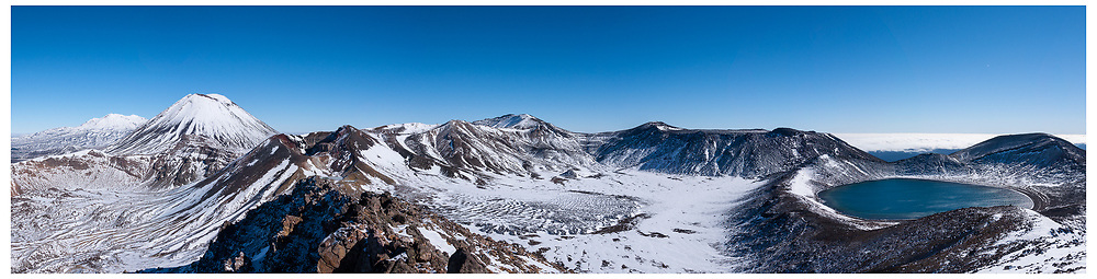 Mt Ngauruhoe and North Crater from the Red Crater, Tongariro National Park.
