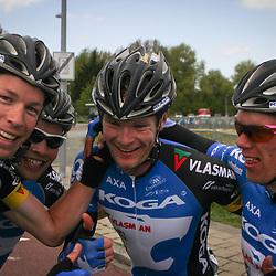 Olympia's Tour etappe Rhenen-Alkmaar Bart van Haaren, Robin Chaigneau, Arno van der Zwet, Wim Stroetinga