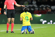 Gabriel Jesus (Brazil) reacts during the International Friendly Game football match between Germany and Brazil on march 27, 2018 at Olympic stadium in Berlin, Germany - Photo Laurent Lairys / ProSportsImages / DPPI