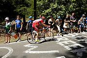 France, Bedoin, 25 July 2009: Christophe Kern (Fra) Cofidis, Le Credit en Ligne climbs Mont Ventoux during Stage 20 - Montélimar to Mont Ventoux (167 km). Photo by Peter Horrell / http://peterhorrell.com .