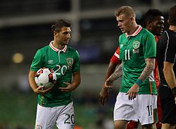 Ireland's Wes Hoolahan and James McClean - Mandatory by-line: Ken Sutton/JMP - 31/08/2016 - FOOTBALL - Aviva Stadium - Dublin,  - Republic of Ireland v Oman -