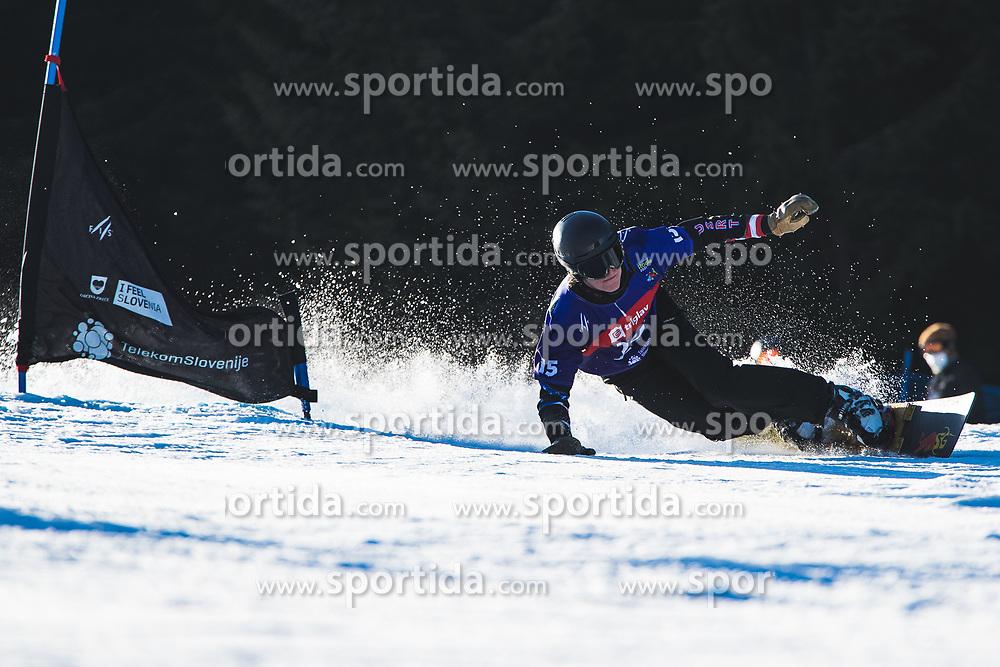 Cody Winters (USA) during parallel slalom FIS Snowboard Alpine World Championships 2021 on March 2nd 2021 on Rogla, Slovenia. Photo by Grega Valancic / Sportida