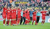 Fotball<br /> Tyskland<br /> 03.04.2011<br /> Foto: Witters/Digitalsport<br /> NORWAY ONLY<br /> <br /> Schlussjubel (Koeln)<br /> <br /> Bundesliga, 1. FC Köln - 1. FC Nürnberg 1:0