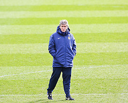 Man City Manager Manuel Pellegrini during the training session at The Etihad Campus ahead of the UEFA Champions League clash with FC Barcelona - Photo mandatory by-line: Matt McNulty/JMP - Mobile: 07966 386802 - 23/02/2015 - SPORT - Football - Manchester - Etihad Stadium