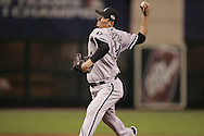 HOUSTON - OCTOBER 26:  Freddy Garcia of the Chicago White Sox pitches during Game 4 of the 2005 World Series against the Houston Astros at Minute Maid Park on October 26, 2005 in Chicago, Illinois.  The White Sox defeated the Astros 1-0.