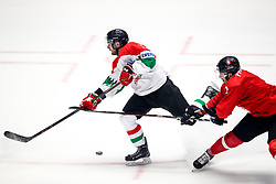 Christopher Bodo of Hungary and Edgar Protcenko of Lithuania during ice hockey match between Lithuania and Hungary at IIHF World Championship DIV. I Group A Kazakhstan 2019, on May 2, 2019 in Barys Arena, Nur-Sultan, Kazakhstan. Photo by Matic Klansek Velej / Sportida