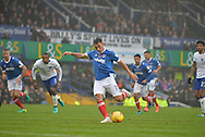 Portsmouth Midfielder, Gary Roberts (11) scores a goal from the penalty spot 1-0 during the EFL Sky Bet League 2 match between Portsmouth and Mansfield Town at Fratton Park, Portsmouth, England on 12 November 2016. Photo by Adam Rivers.