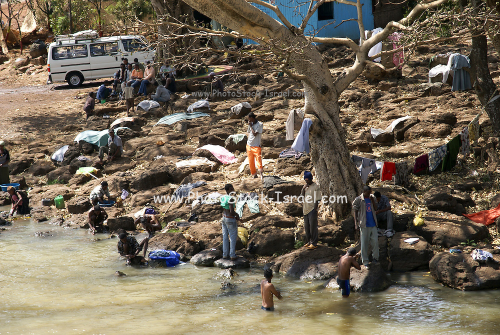 Ethiopia, Amhara Region washing day in the river