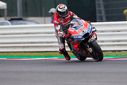 September 7, 2018 - Rimini, RN, Italy - Jorge Lorenzo of Ducati Team during the free practice 2 of the OCTO Grand Prix of San Marino e della Riviera di Rimini, at Misano World Circuit Marco Simoncelli, on September 07, 2018 in Misano Adriatico, Italy  (Credit Image: © Danilo Di Giovanni/NurPhoto/ZUMA Press)