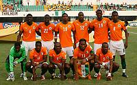 Photo: Steve Bond/Richard Lane Photography.<br />Ivory Coast v Benin. Africa Cup of Nations. 25/01/2008. Ivory Coast team