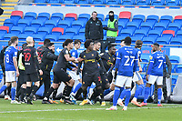 Football - 2020 / 2021 Sky Bet Championship - Cardiff City v Watford- Cardiff City Stadium<br /> <br /> tempers fray after the final whistle<br /> <br /> <br /> COLORSPORT/WINSTON BYNORTH