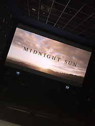 "Patrick Schwarzenegger releases a photo on Twitter with the following caption: """"I went out in the cinema sobbing and there's my puffy eyes but see, I still look so happy😊 Midnight Sun was so amazing! I even so proud of myself! I just watched it alone! So ironic that it's a romantic movie😂 I really cried a lot at the ending!💔 @bellathorne @PSchwarzenegger"""". Photo Credit: Twitter *** No USA Distribution *** For Editorial Use Only *** Not to be Published in Books or Photo Books ***  Please note: Fees charged by the agency are for the agency's services only, and do not, nor are they intended to, convey to the user any ownership of Copyright or License in the material. The agency does not claim any ownership including but not limited to Copyright or License in the attached material. By publishing this material you expressly agree to indemnify and to hold the agency and its directors, shareholders and employees harmless from any loss, claims, damages, demands, expenses (including legal fees), or any causes of action or allegation against the agency arising out of or connected in any way with publication of the material."