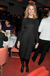 NATALIA VODIANOVA at a private dinner hosted by Lucy Yeomans in honour of Jason Brooks at The Cafe Royal, Regent Street, London on 13th February 2013.
