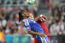 19.05.2012, Allianz Arena, Muenchen, GER, UEFA CL, Finale, FC Bayern Muenchen (GER) vs FC Chelsea (ENG), im Bild -vorn Didier DROGBA (FC Chelsea), dahinter Bastian SCHWEINSTEIGER (Bayern Muenchen) // during the Final Match of the UEFA Championsleague between FC Bayern Munich (GER) vs Chelsea FC (ENG) at the Allianz Arena, Munich, Germany on 2012/05/19. EXPA Pictures © 2012, PhotoCredit: EXPA/ Eibner/ Eckhard Eibner..***** ATTENTION - OUT OF GER *****