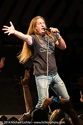 Jesse James Dupree leads Jackyl playing a free concert at Destination Daytona during Biketoberfest, Ormond Beach, FL, October 18, 2014, photographed by Michael Lichter. ©2014 Michael Lichter