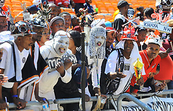South Africa: Gauteng: Orlando Pirates followers come in large numbers to support their team when they play against Kaizer Chiefs during the Soweto Derby for the Absa premiership at FNB stadium, Gauteng<br />Picture: Itumeleng English/African News Agency (ANA)