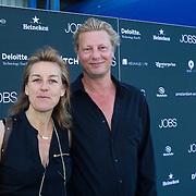NLD/Amsterdam/20130903 - Filmpremiere Jobs , Barbara Bredero en partner …..