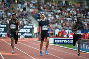 Christophe Lemaitre (FRA) competes in Men's 100m and gets injured during the Meeting de Paris 2018, Diamond League, at Charlety Stadium, in Paris, France, on June 30, 2018 - Photo Jean-Marie Hervio / KMSP / ProSportsImages / DPPI