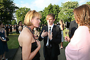 JULIA PEYTON-JONES AND HENRY HOPPER, The Summer Party in association with Swarovski. Co-Chairs: Zaha Hadid and Dennis Hopper, Serpentine Gallery. London. 11 July 2007. <br />