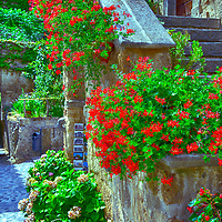 Civita di Bagnoregio. Lazio. Italy. This image was captured at the awe-inspiring hill town of Civita di Bagnoregio in the province of Viterbo within the region of Lazio, central Italy.
