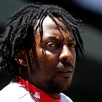 01 July 2007:  Los Angeles Angels right fielder Vladimir Guerrero (27) prepares to come to bat in the 1st inning against the Baltimore Orioles.  The Angels defeated the Orioles 4-3 at Camden Yards in Baltimore, MD.   ****For Editorial Use Only****
