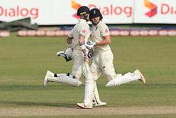 November 23, 2018 - Colombo, Sri Lanka - England cricketers Ben  Stokes and Jonny Bairstow run between the wickets during the 1st day's play in the 3rd and final test cricket match between England and Sri Lanka at SSC international cricket stadium, Colombo, Sri Lanka. 11-23-2018  (Credit Image: © Tharaka Basnayaka/NurPhoto via ZUMA Press)