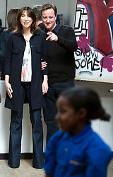 Leader of the Conservative Party David Cameron and his wife Samantha visit The Pedro Youth Club in Hackney, London, Friday April 2nd, 2010. Photo By Andrew Parsons / i-Images.