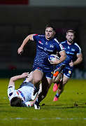 Sale Sharks centre Rohan Janse van Rensburg breaks the Edinburgh Rugby defence to score a try during the European Champions Cup match Sale Sharks -V- Edinburgh Rugby at The AJ Bell Stadium, Greater Manchester,England United Kingdom, Saturday, December 19, 2020. (Steve Flynn/Image of Sport)