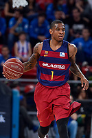 FCB Lassa's Xavier Mumford during Semi Finals match of 2017 King's Cup at Fernando Buesa Arena in Vitoria, Spain. February 18, 2017. (ALTERPHOTOS/BorjaB.Hojas)