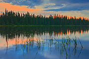The Grass River at dusk<br />Pisew Falls Provincial Park<br />Manitoba<br />Canada