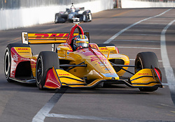 March 10, 2019 - St. Petersburg, FL, U.S. - ST. PETERSBURG, FL - MARCH 10: Andretti Autosport driver Ryan Hunter-Reay (28) of United States during the IndyCar Series - Firestone Grand Prix Race on March 10 in St. Petersburg, FL. (Photo by Andrew Bershaw/Icon Sportswire) (Credit Image: © Andrew Bershaw/Icon SMI via ZUMA Press)