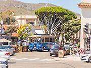 Laguna Beach Transit in Route on Ocean Avenue