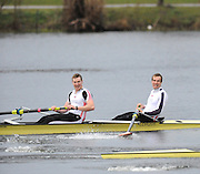 Hazewinkel. BELGUIM,  left Tom BROADWAY and Tom BURTON B finallist at the 2008 GB Rowing Trials, at the Bloso Rowing Course, 09/03/2008. [Mandatory Credit, Peter Spurrier/Intersport-images] Rowing Course, Bloso, Hazewinkel. BELGUIM