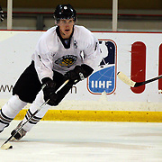 Connor Harrison, New Zealand, in action during the China V New Zealand match during the 2012 IIHF Ice Hockey World Championships Division 3 held at Dunedin Ice Stadium. Dunedin, Otago, New Zealand. 21st January 2012. Photo Tim Clayton