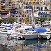 Luxury yachts in Monaco harbor