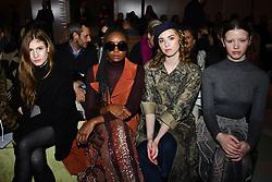 Agathe Bonitzer, Kiki Layne, Mia Goth and Freya Mavor attend the Christian Dior Haute Couture Spring Summer 2019 show as part of Paris Fashion Week on January 21, 2019 in Paris, France. Photo by Laurent Zabulon/ABACAPRESS.COM
