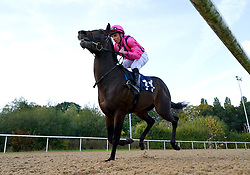 Poet ridden by William Buick competes in the Download The At The Races App Nursery at Wolverhampton racecourse. Picture date: Monday October 11, 2021.