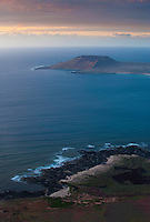 Chiniko Archipielago from the mainland of Lanzarote Island, Canary Islands.