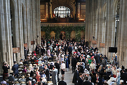 A general view of guests arriving in St George's Chapel at Windsor Castle for the wedding of Prince Harry and Meghan Markle.
