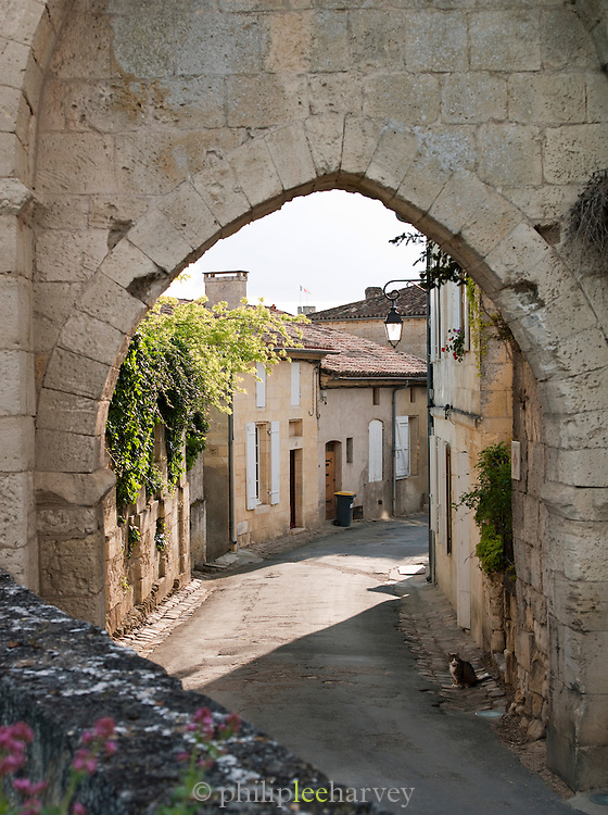 Old street of Saint Emilion, France