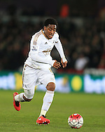 Leroy Fer of Swansea city in action. Barclays Premier league match, Swansea city v Aston Villa at the Liberty Stadium in Swansea, South Wales on Saturday 19th March 2016.<br /> pic by  Andrew Orchard, Andrew Orchard sports photography.